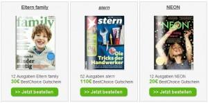 Günstige Abos, z.B. P.M. Magazin für 7€ im Jahresabo, Stern nur 82€ ...uvm.