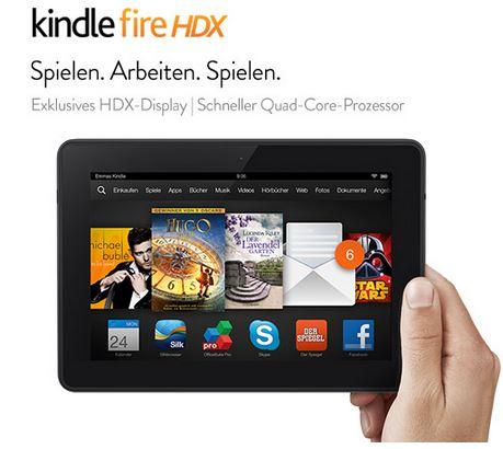 Kindle Fire HDX 7  7Zoll Tablet mit 64GB für nur 98,98€ (Warehouse)