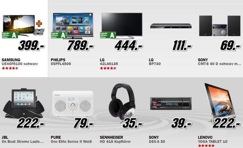 Philips 55PFL4508 55″ TV für 789€ und mehr richtig gute MediaMarkt Angebote: Alles Muss Raus