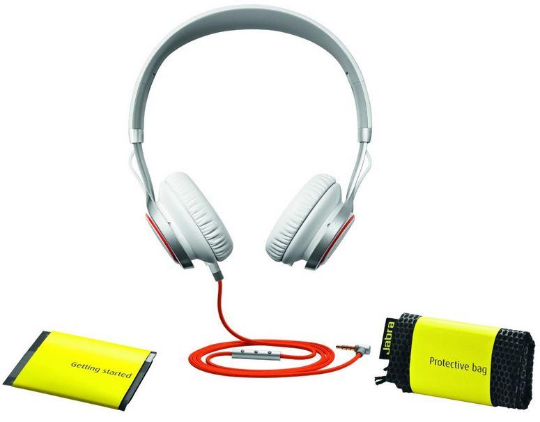 Jabra Revo On Ear Kopfhörer (3,5mm Klinkenstecker) weiß für ~94€