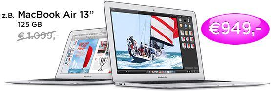 MacBook Air 13 für 842,61€ inkl. Versand bei Meinpaket.de (Vergleichspreis: 914€)   UPDATE
