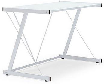 WIRLIEBENWOHNEN Schreibtisch   weiß mit Milchglasscheibe 110x60cm für 39€