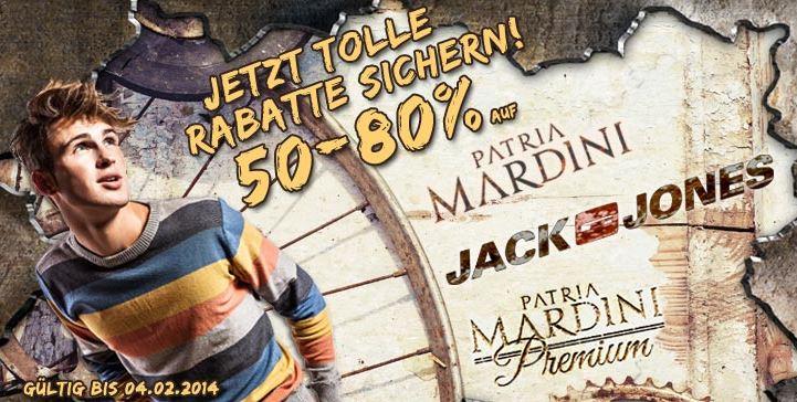 JACK&JONES und PATRIA MARDINI mit 50 80% Rabatt bei den Hoodboyz   Update!
