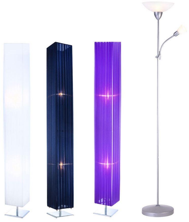 Stehlampe in 3 verschiedenen Farben und Deckenfluter für je 24,90€