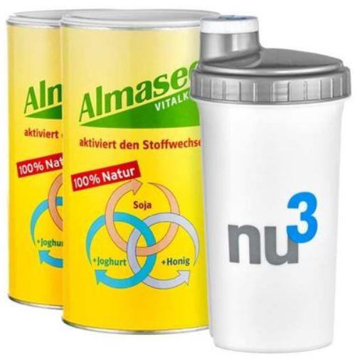 Almased nu3 Diät Starterpaket mit Shaker für 33,99€   wieder da!