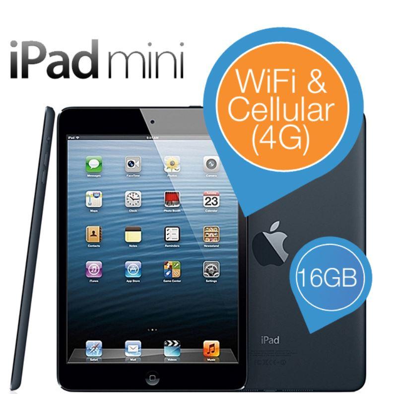 Apple iPad Mini WiFi + Cellular 16GB   Schwarz für nur 233,90€   Update!