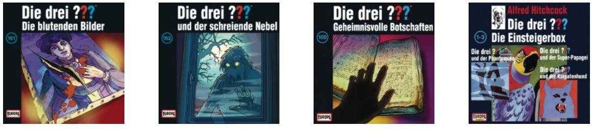 Drei Fragezeichen   als Hörbuch Download bei Amazon für je 2,99€