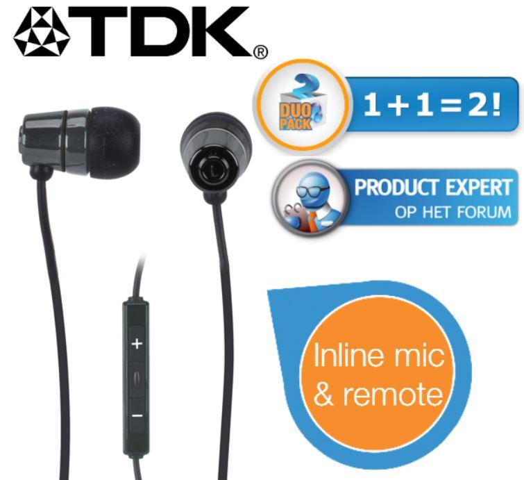 TDK SP60   Duo Pack In Ear Kopfhörer für 35,90€