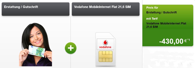 5GB Vodafone mobile Internet Flat für effektiv monatl. 3,33€   Junge Leute und SoHo nur 0,41€! Update