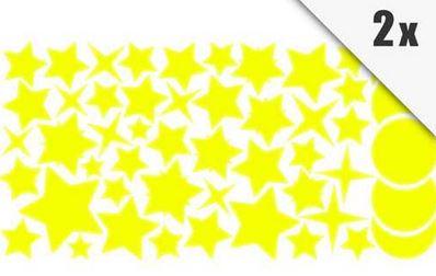 Wandtatoo Sternenhimmel   250 selbstklebende fluoreszierende Sterne im Set für 7,95€