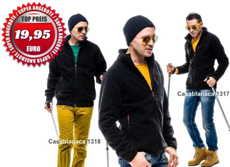 CASABLANCA Sport Outdoor Fleecejacke mit Zipper für je 19,95€