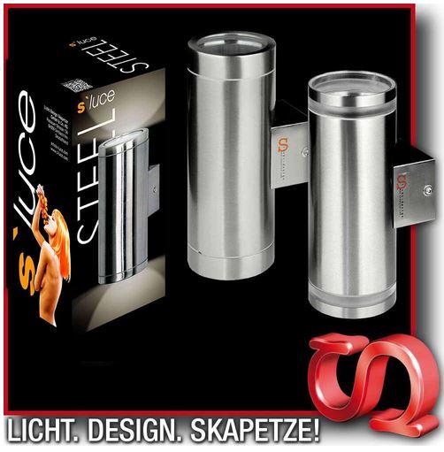 s`luce STEEL   Edelstahl Wandlampe für 16,99€