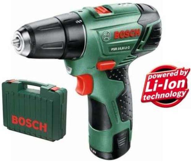 Bosch  PSR 10,8 LI 2   2 Gang Akku Bohrschrauber incl. Akku + Koffer für 73,50€
