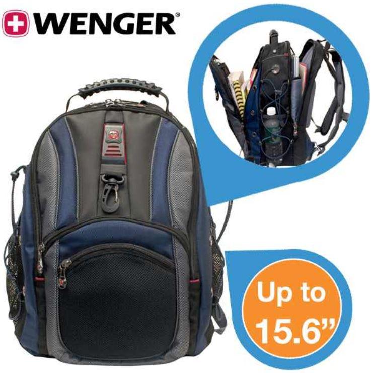 Wenger Hudson 15,6 Zoll Notebook Rucksack in Blau für 35,90€