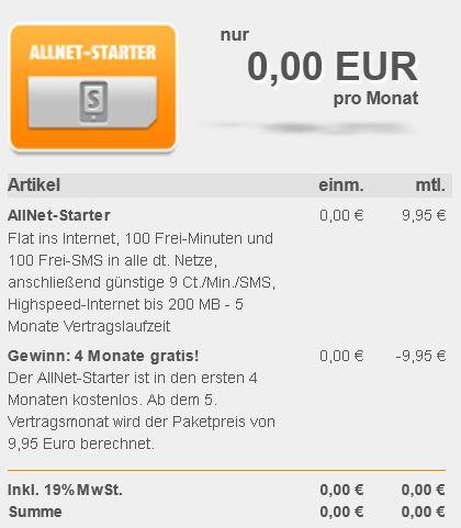 Klarmobil AllNet Starter Aktion   5 Monate für zusammen nur 9,95€