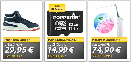 OHA Deals: 32 GB Poppstar Micro SDHC Class10 für 14,99€...etc.