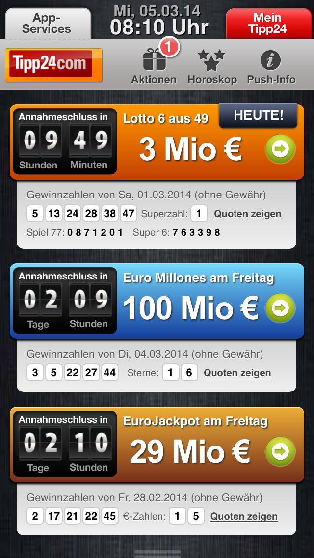 Letzte Chance tipp24: Ein Tippfeld kostenlos und Chance auf 100 Millionen im Jack Pot