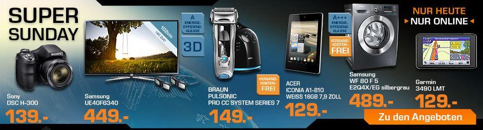 BRAUN Series 7 Pulsonic Pro CC System Rasierer für 149€   SATURN Super Sunday Angebote