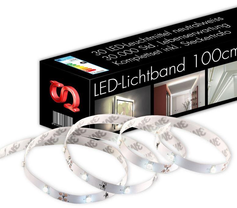 LED Strip 100cm Lichtband 30 LEDs inkl. Netzteil und Schalter für nur 9,99€ inkl. Versand