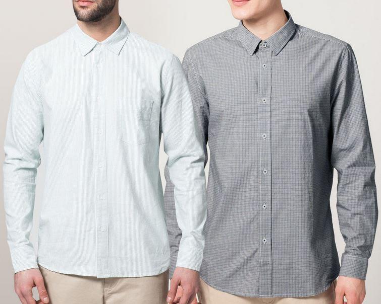 Pier One Herren Businesshemd mit Kent Kragen und Modern Fit für je 19,95€