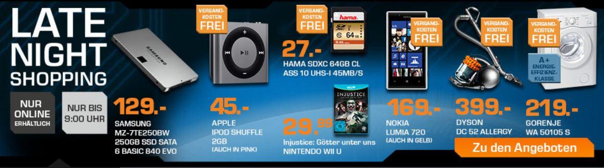 SAMSUNG MZ   840 EVO Basic 250 GB SSD für 129€ beim Saturn Late Night Sale
