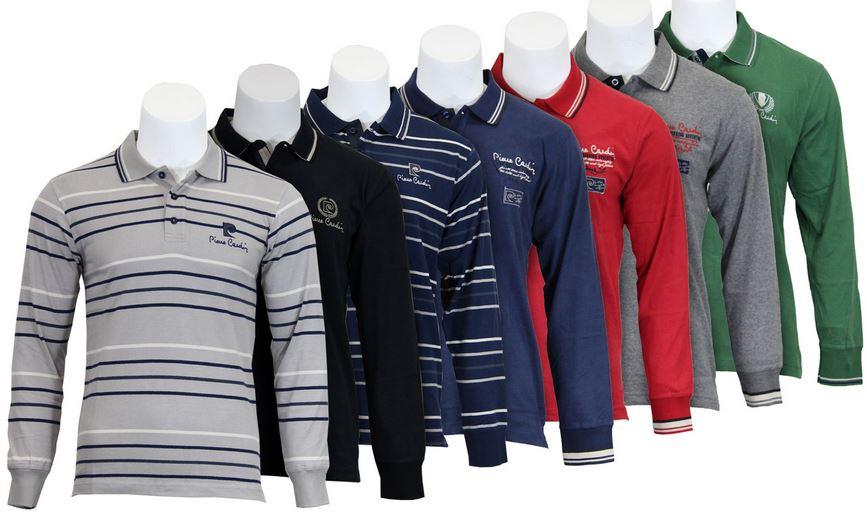 Pierre Cardin Herren Polo langarm Shirts, für nur 16,99€