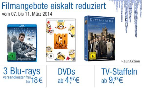 Filmangebote eiskalt reduziert   neue Amazon DVD und Blu ray Angebote   Update