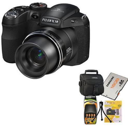 FUJI FINEPIX S2980 – 14 MP Digital Kamera mit Zubehör Set für 129€