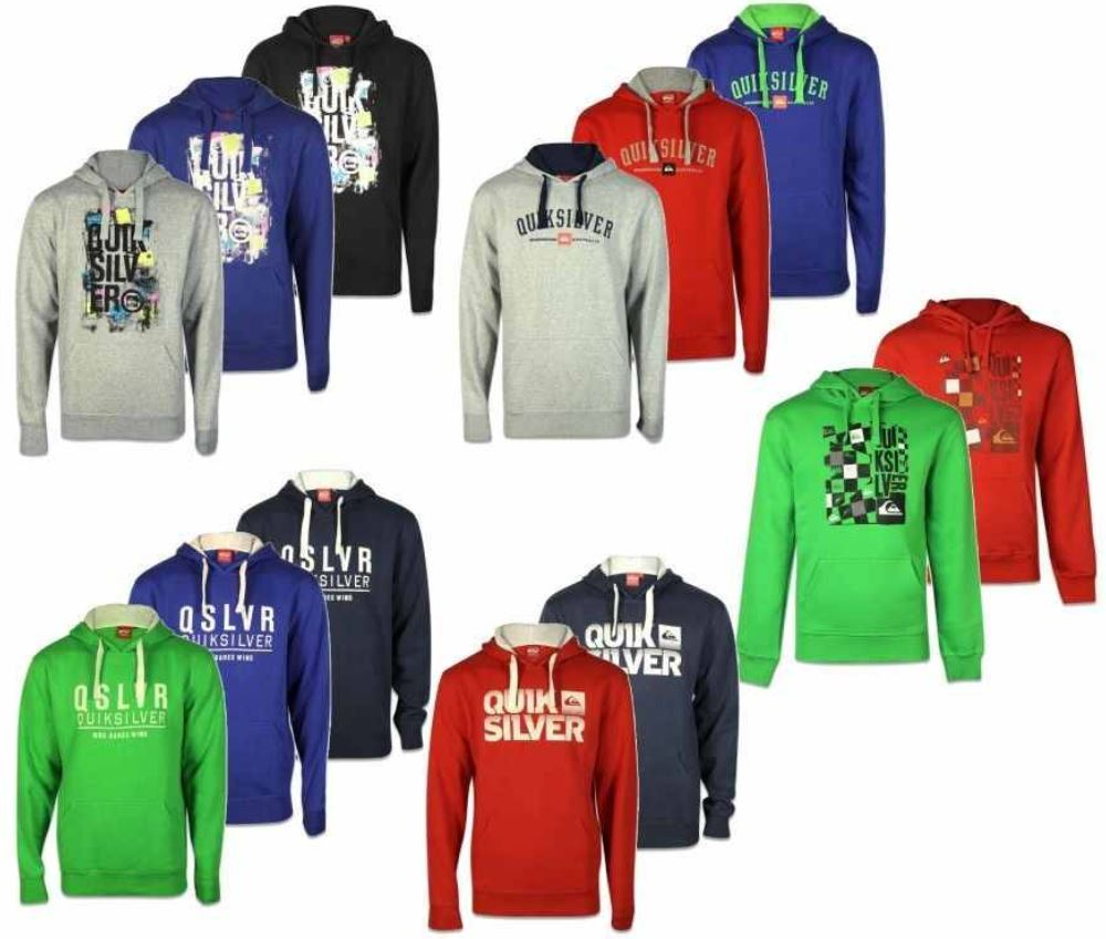 QUIKSILVER   verschiedene Sweatshirts und Hoodies für je 32,99€