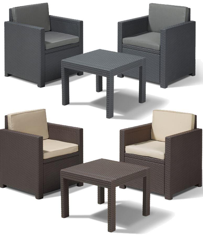 Sitzgruppe aus Polyrattan für Garten oder Balkon für 149€