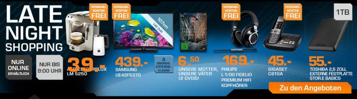 AEG Lavazza A Modo Mio inkl. Milchaufschäumer für 39€ beim Saturn Late Night Sale