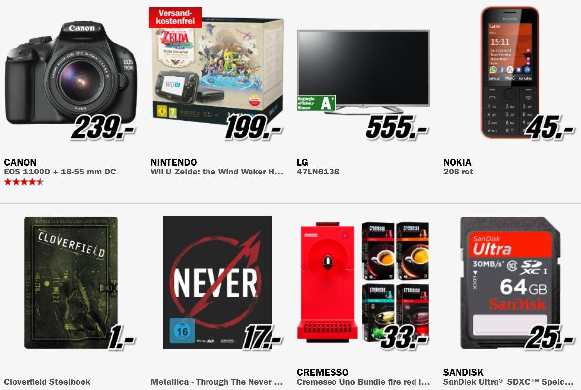 Nintendo Wii U Premium Pack + The Legend of Zelda für 199€ + mehr Knüller bei der MediaMarkt Aktion