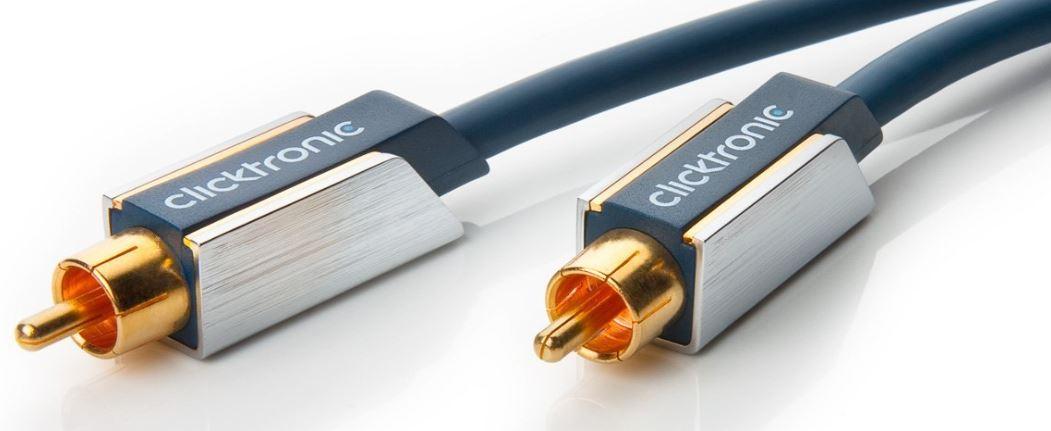 Clicktronic Advanced Audiokabel (Cinch Stecker/Cinch Stecker, 3m) für 11,50€ (Vergleich 31€)