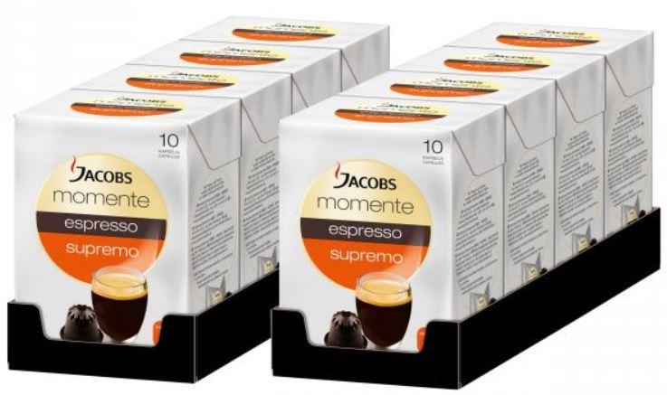 Jacobs Momente Espresso Supremo   80 Kapseln für Nespresso Maschinen nur 16,99€