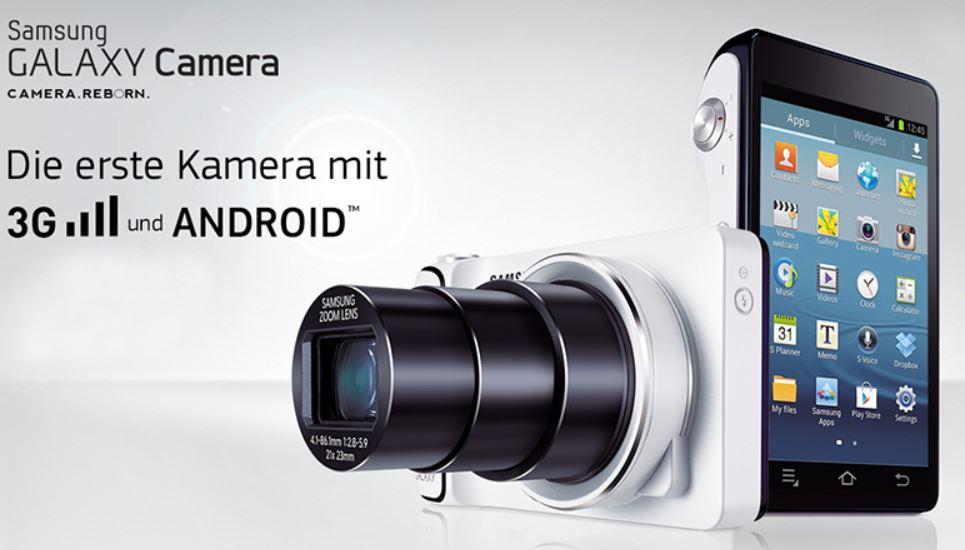 Samsung Galaxy Cam GC100   16 MP Android Digital Kamera mit 3G für nur 169€