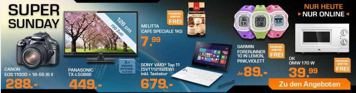 SONY VAIO Tap 11 inkl. Tastatur für 679€ und mehr bei den Saturn Super Sunday Angeboten