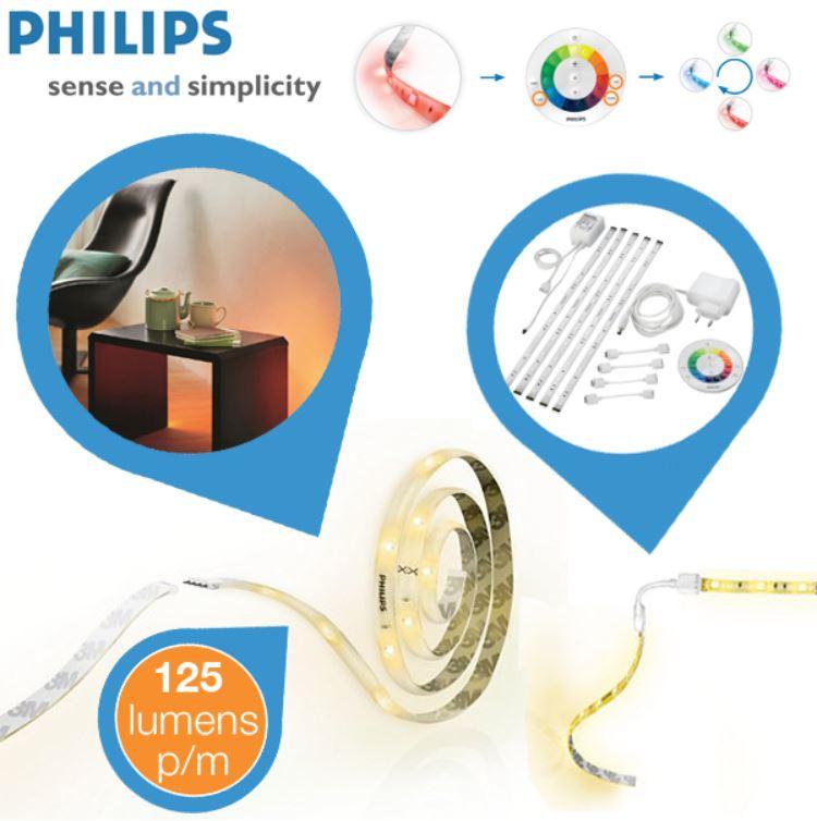 Philips LightStrips Flex Color (1,6 Meter) für 30,90€ (Vergleich 50€)