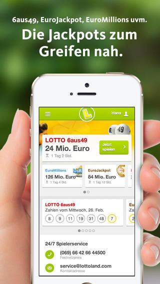 App Tipp: Neue LOTTOLAND iOS App laden und 5€ Gutschein für Tippfelder bekommen   Update