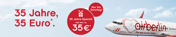 Air Berlin 35 Jahre Special   Flugtickets ab 35€