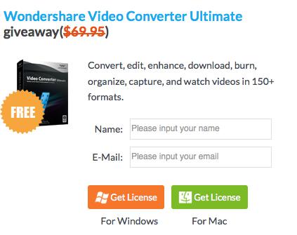 Kostenlos! Wondershare Video Converter (regulär 44€)