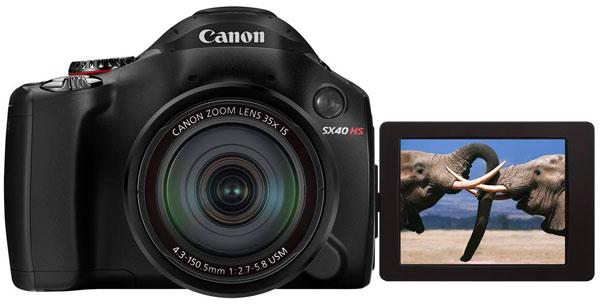 Canon PowerShot SX40 für 201,10€   Bridge Kamera mit Superweitwinkel Objektiv und 35x optischen Zoom