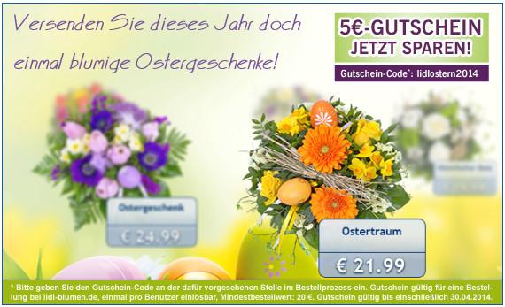 5€ Rabatt für den Lidl Blumenservice   Blumensträuße ab 9,99€