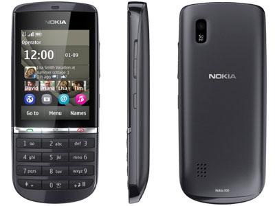 Nokia Asha 300 für 43,95€   ideales Festival Handy mit 5MP Kamera, Touch Display und OVI Apps