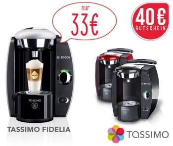 Bosch Tassimo T42 Fidelia für 33€   inkl. 40€ Tassimo Gutschein