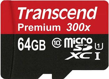 Transcend 64GB microSDXC für 23,99€   günstigste 64GB Speicherkarte (Class 10 UHS I)