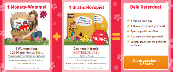 Wummelkiste + Hörspiel zusammen für 24,95€