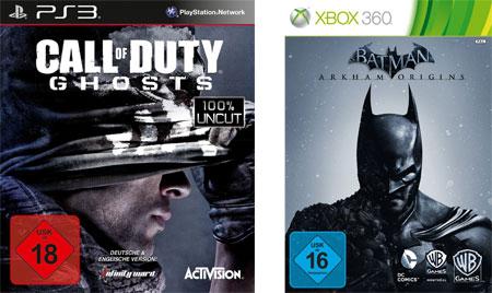 Call of Duty Ghosts (PS3) für 18,24€ und Batman Arkham Origins (Xbox 360) für 15,83€
