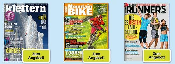 Verschiedene Outdoor Zeitschriften im Probeabo ab effektiv 1,95€