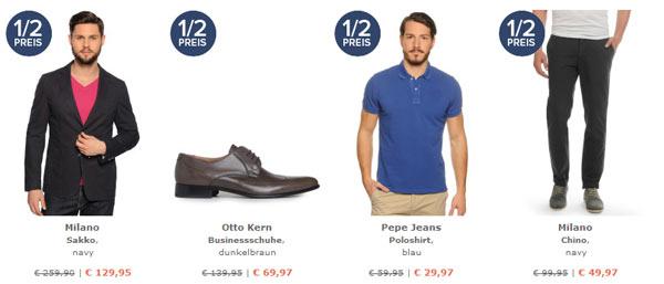 50% auf fast alles bei dress for less   nur für Männer