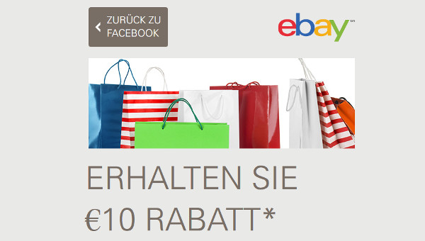 Vorbei! 10€ ebay Gutschein über facebook sichern   15€ MBW